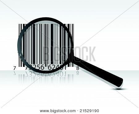 scanning upc code illustration design over a light gray background