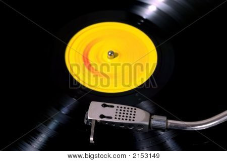 Record Player Looking Down