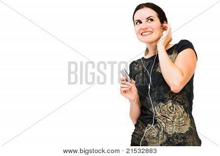 Woman Listening Mp3