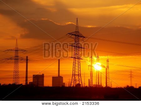 Power Station Sundown