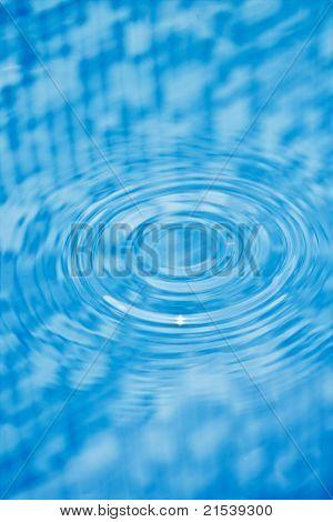 Drop of water making circular waves