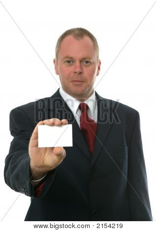 Businessman Presenting His Card.
