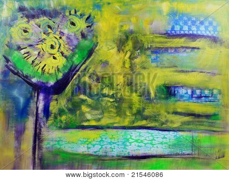 Sunshine Bouquet Abstract Painting