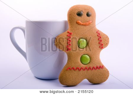 Gingerbread Man And Cup
