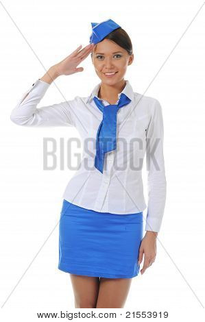Attractive stewardess