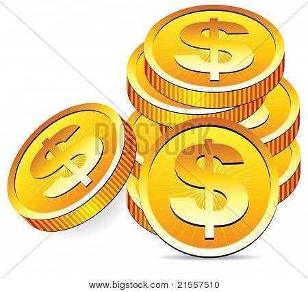 Vector Golden Coins