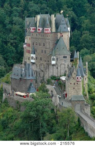 Burg Eltz Historic Castle Situated On The Elz River In Germany