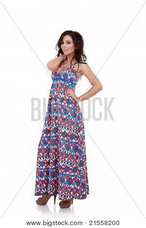 Beautiful Full Body Fashion Woman