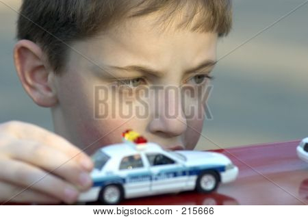 Playing With A Toy Car