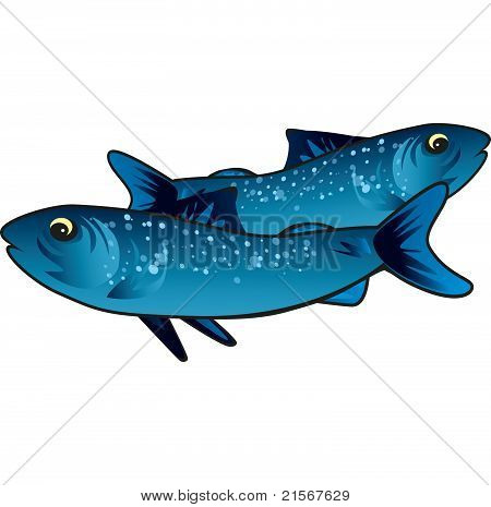 Small Blue Fish