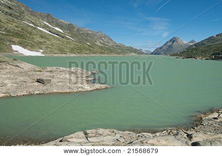 alpine landscape in ospizio bernina, switzerland