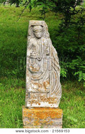 Ancient Roman Man Statue Ostia Antica Rome Italy