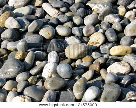 Pebbles at the beach in Nice, France