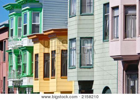 Colorful San Francisco Houses