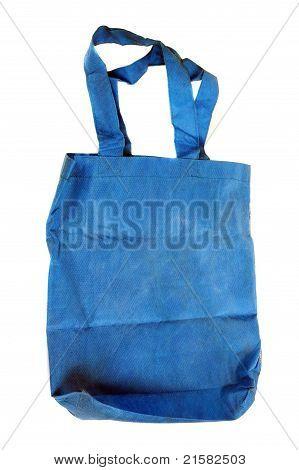 Eine blaue Baumwolltasche