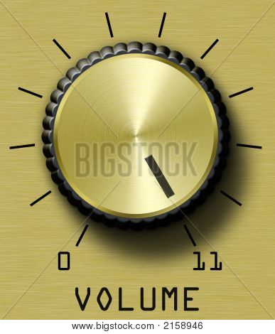 Volume Control Gold