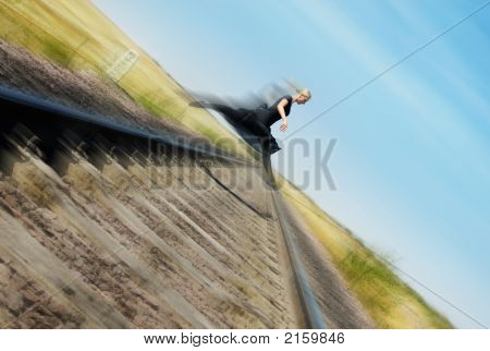 Flying Over Railway