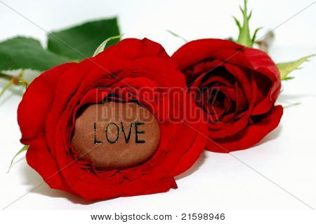 Love Rock Inside A Rose