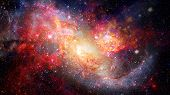 Nebula And Spiral Galaxies In Space. Elements Of This Image Furnished By Nasa. poster
