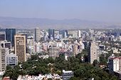 picture of overpopulation  - Mexico City downtown skyline - JPG