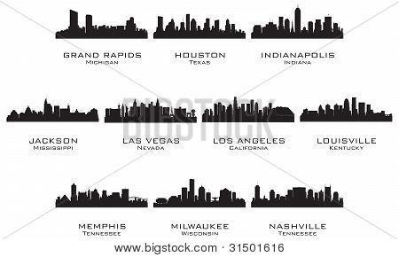 Silhouettes Of The Usa Cities_2
