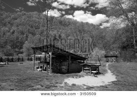 Wood Cabin In Smoky Mountain Np