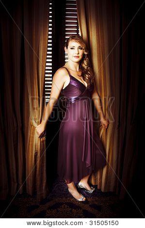 Beautiful Actress Posing At Premiere