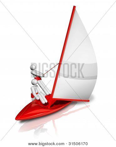 Sailing 3D Symbol