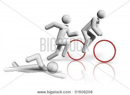 Triathlon 3D Symbol