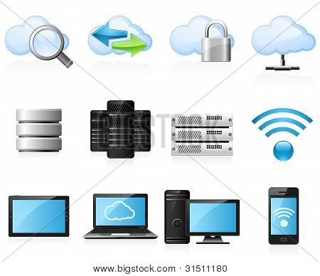 cloud computing Symbole