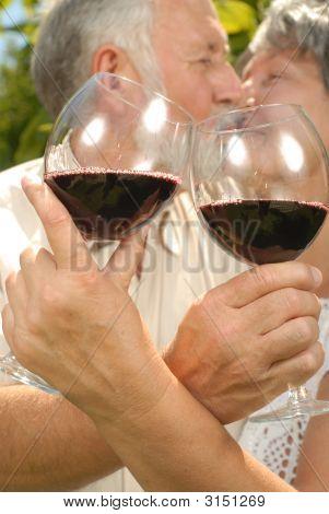 Seniors At A Wine Tasting