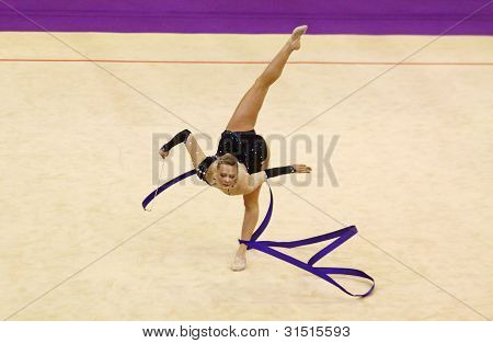 Nicole Ruprecht Of Austria Performs During Rhythmic Gymnastics World Cup