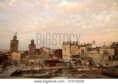 Sunset over Fez Medina