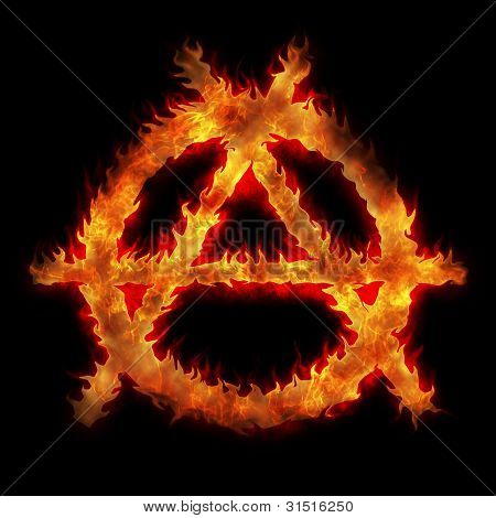 Burning Anarchy Sign