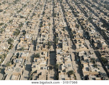 Luftbild von Bagdad