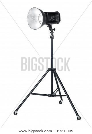 Professional Flashlight On Tripod