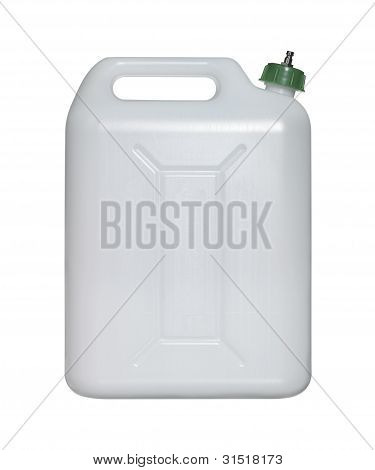 White Canister With Green Closure