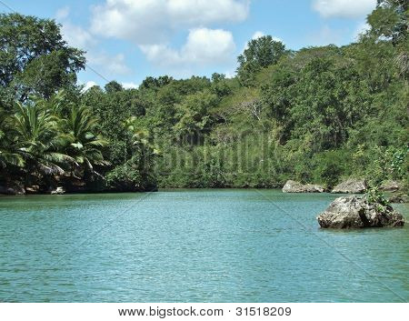 Dominican Republic Waterside Scenery