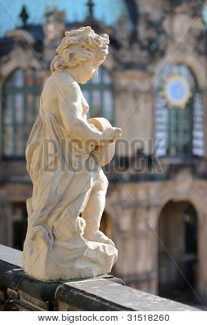 Statue In Zwinger Museum