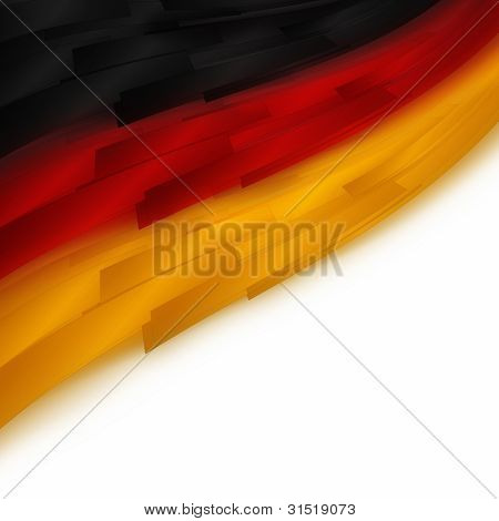 Illustrated German flag for sport events