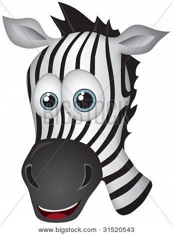 Zebra Vector Cartoon Illustration