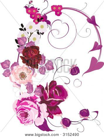 Pink Poppy And Rose Decoration