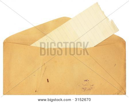 Antique Envelope With Stains