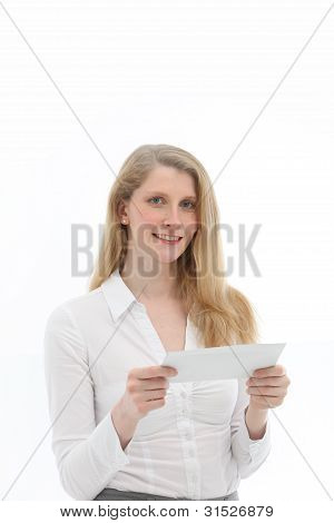 Woman About To Read Letter