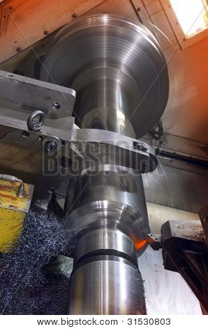 Industrial cutting lathe
