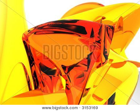 Orange Amber Mountain