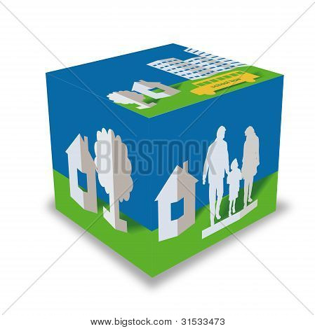 Cube With Drawing