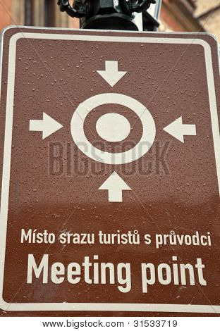 Meeting Point Sign