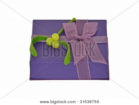 Gift with mistletoe