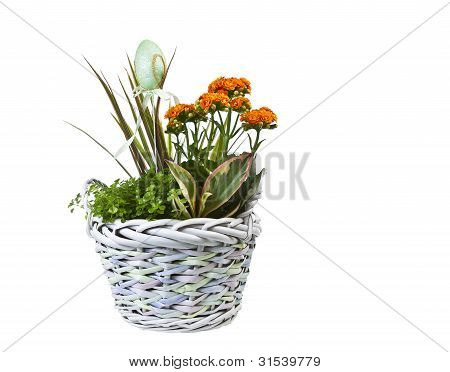 Easter Basket With Flowers